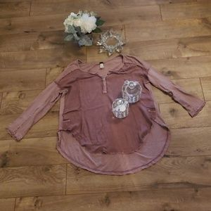 Free people top high low